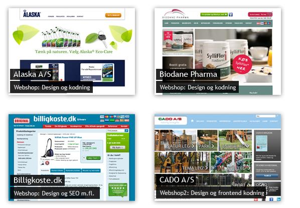 Eksempler på webdesign